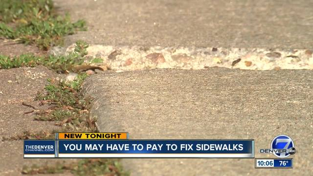 Denver to host sidewalk repair town hall- homeowners will be slapped…