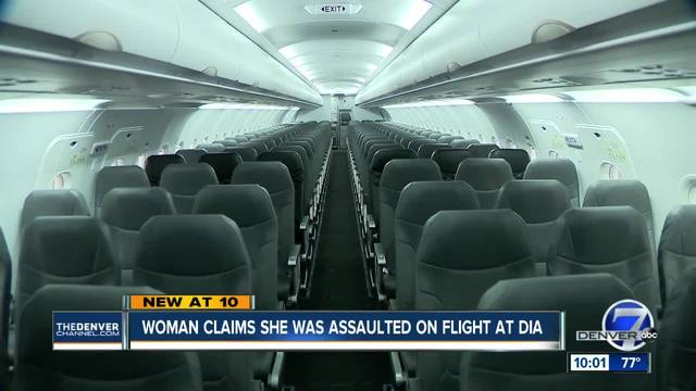 Woman says she was assaulted trying to get off United flight at DIA