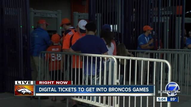 Going to the Broncos preseason opener- You better bring your smartphone…