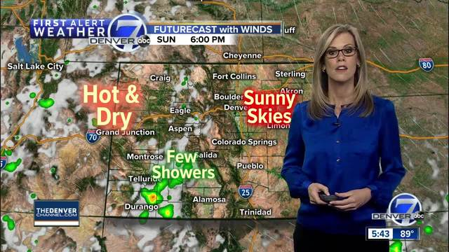 A warm and dry weekend in Denver- with highs around 90 degrees
