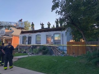 Partial roof collapse startles West Wash Park