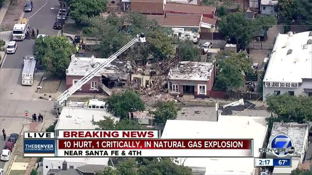 10 injuries reported after natural gas explosion- building collapse on…