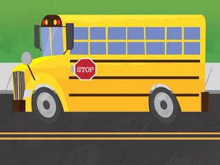 When do I have to stop for a school bus?