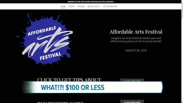 The Affordable Arts Festival will be taking place this Sunday at the…