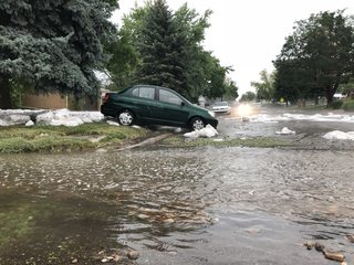 PHOTOS: Storm brings hail, flooding to Lakewood