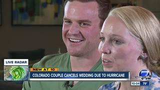 Hurricane halts local couple's wedding plans
