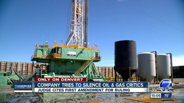 Attempt by Colorado company to silence critics ends in big win for oil…