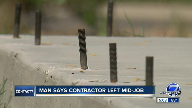 Contact7 digs into claims a Colorado contractor walked off a -30K job…