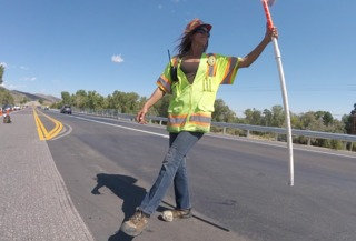 Dancing Colo. flagger puts drivers in good mood