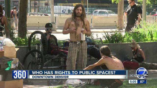 Who has rights to public space in downtown Denver-