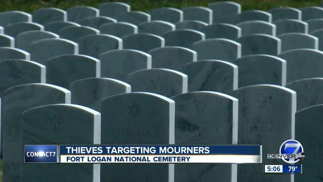 Thieves targeting mourners at local cemetery