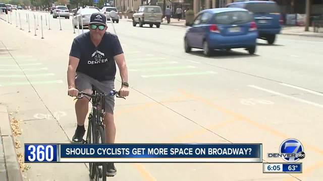 Denver will extend the Broadway bike lane to better connect with Cherry…