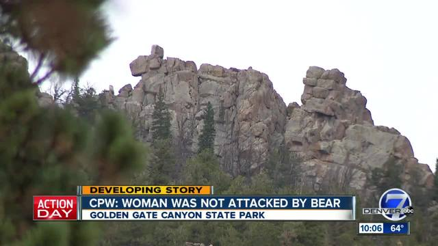 CPW- Report of bear attack in Golden Gate Canyon park -determined to be…