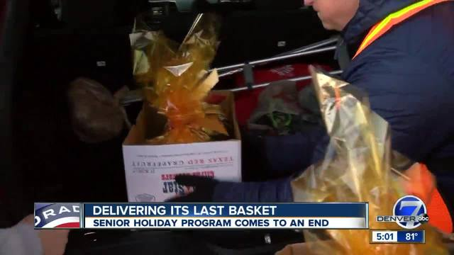 Basket of Joy program that delivers food and holiday cheer to seniors…