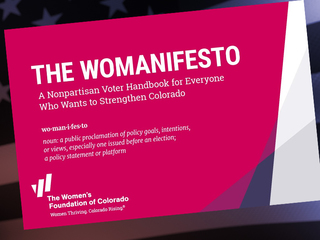 'Womanifesto' offers ideas for improving economy