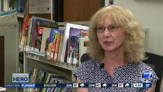 Library volunteer Cindy Sanger helps kids excel