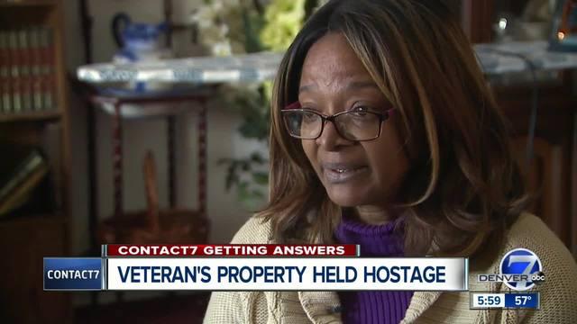Veterans- property held hostage