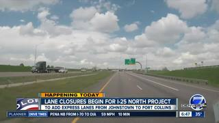 Work begins on I-25 North Express Lanes project