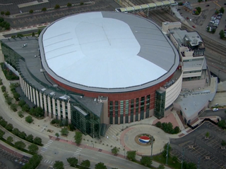 Woman struck at Pepsi Center sporting event
