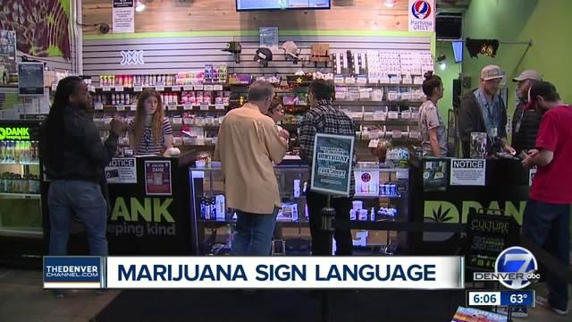 Boulder nonprofit working on marijuana sign language