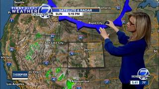 Chance for rain and snow in CO this week