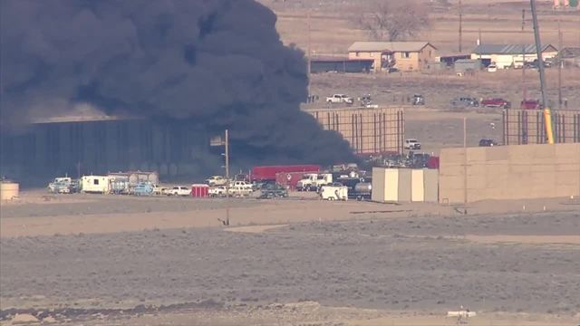 thedenverchannel.com - Blair Miller - Fire burns at oil and gas site in Weld County