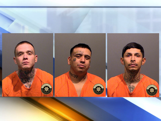 Three arrested after woman found shot, burned