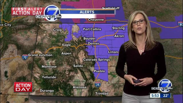 First Alarm Action Day: Icy roads and snow for the Denver Metro Area on Saturday