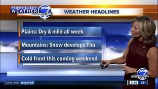Warm and dry across Colorado
