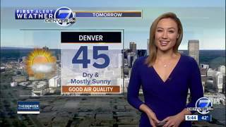 Dry and cool Sunday in Denver