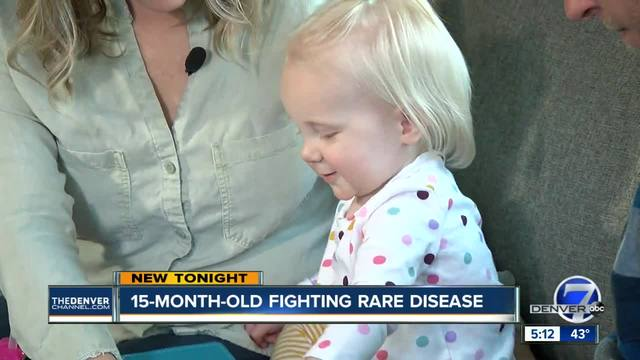 15-month-old Denver girl fighting rare disease- raising awareness for…