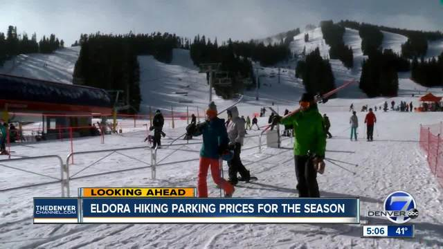 Eldora to start charging parking fees on peak days for cars with 2 or…