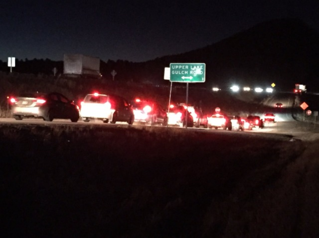 Pedestrian struck, killed on I-25 near Larkspur