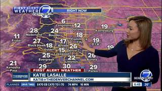 Clear skies and milder across Colorado Monday